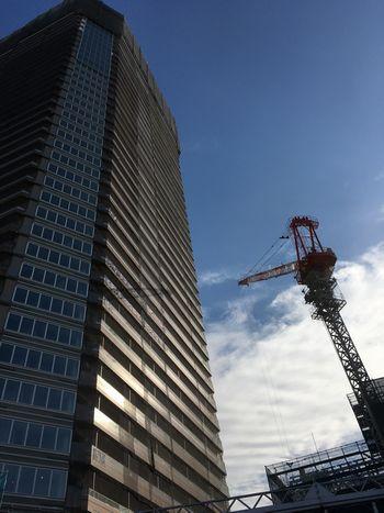 武蔵小山駅前に建設中の高層マンション