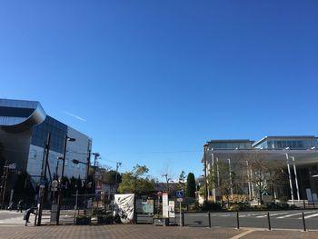大岡山駅前の晴れ渡った空 2019年1月2日